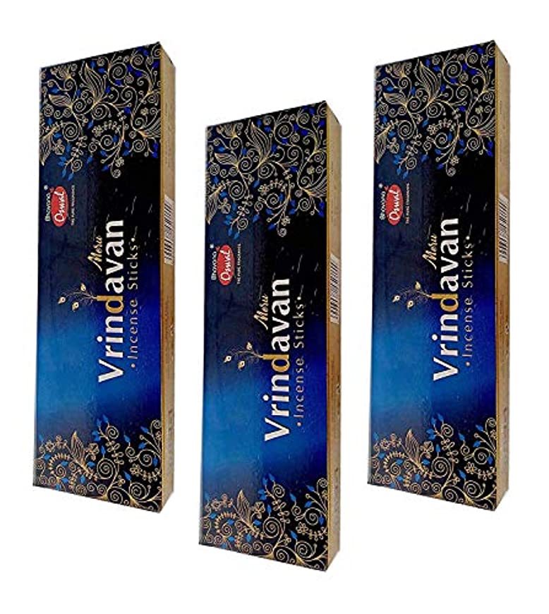 看板ホテル凝縮するOSWAL VRINDAVAN Incense Sticks Combo Pack of 3 (100 GM Each)