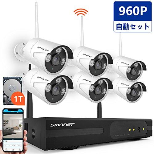 ワイヤレス監視カメラシステム SMONET 8チャンネル10...