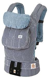 エルゴベビー(Ergobaby) 抱っこ紐 おんぶ可 [日本正規品保証付](日本限定ベビーウエストベルト付) (洗濯機で洗える) ベビーキャリア デザイナー Lee ヒッコリーストライプデニム CREGBCAHKYLEE