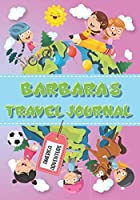 Barbara's Travel Journal: Personalised Awesome Activities Book for USA Adventures
