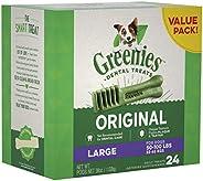 GREENIES Original Large Dental Dog Treat, 1kg Box (24 treats), Adult, Large