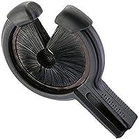 SODIAL アーチェリードロップ離れてビスケットの矢印、左手のブラシ ウィスカー 弓 黒色