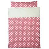 洗えるお昼寝布団 5点セット 日本製 ポルカドット 園児用敷布団 ブラウンバッグ (ピンク)