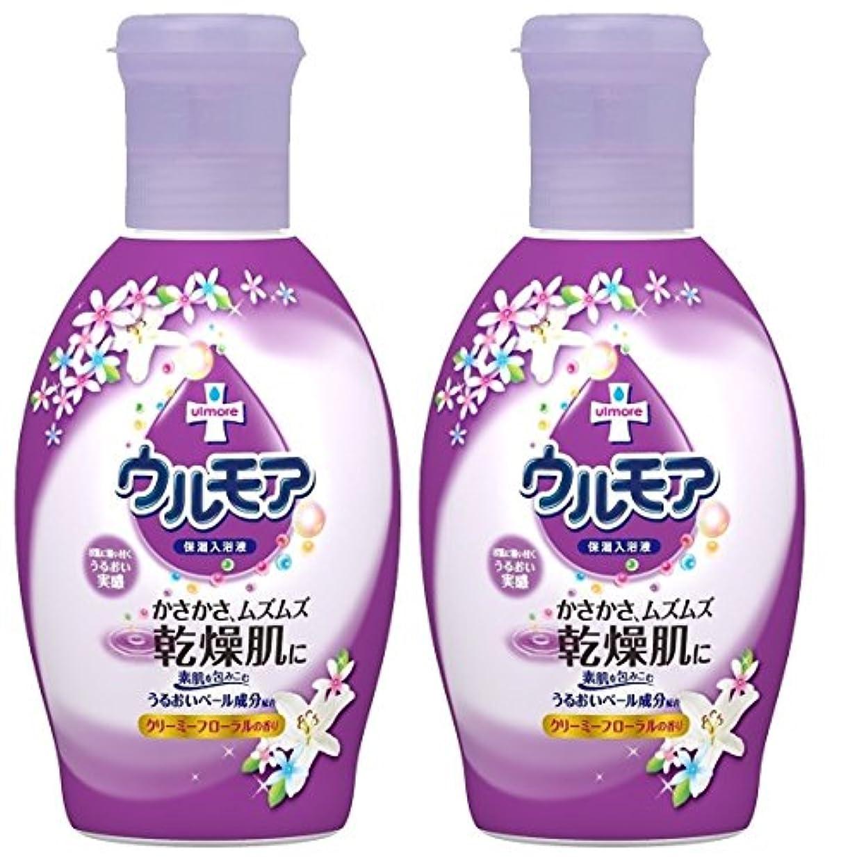 現代の品揃え保護する【まとめ買い】保湿入浴液 ウルモアクリーミーフローラル 600mL ×2セット