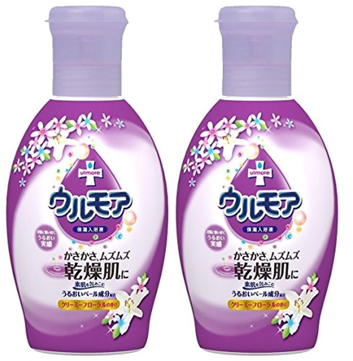 不適切なカウンタ同意【まとめ買い】保湿入浴液 ウルモアクリーミーフローラル 600mL ×2セット