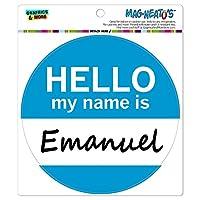 エマニュエルこんにちは、私の名前は - サークル MAG-格好いい'S(TM)カー/冷蔵庫マグネット