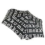 marimekko(マリメッコ) MARILOGO MINI MANUAL UMBRELLA マリメッコロゴ ミニマニュアル コンパクト 折りたたみ傘 アンブレラ 41399 910 black/white