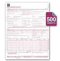 CMS 1500 / HCFA 1500 保険金請求用紙 レーザー・インクジェットプリンター対応 2012年2月新バージョン レターサイズ 8.5x11インチ 500枚連