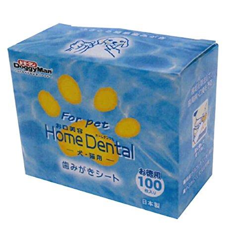 ドギーマン ホームデンタル 歯みがきシート 100枚入り
