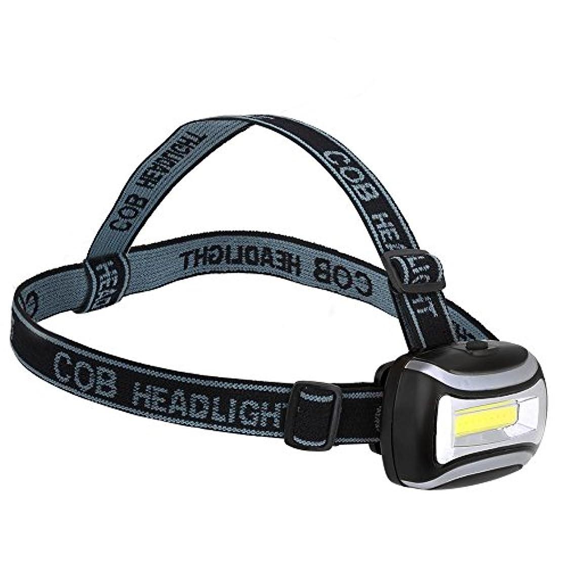 ヘッドライト COBヘッドランプ 懐中電灯 防水 耐久性 調整可能 キャンプ/屋外/サイクリング/夜間釣り用