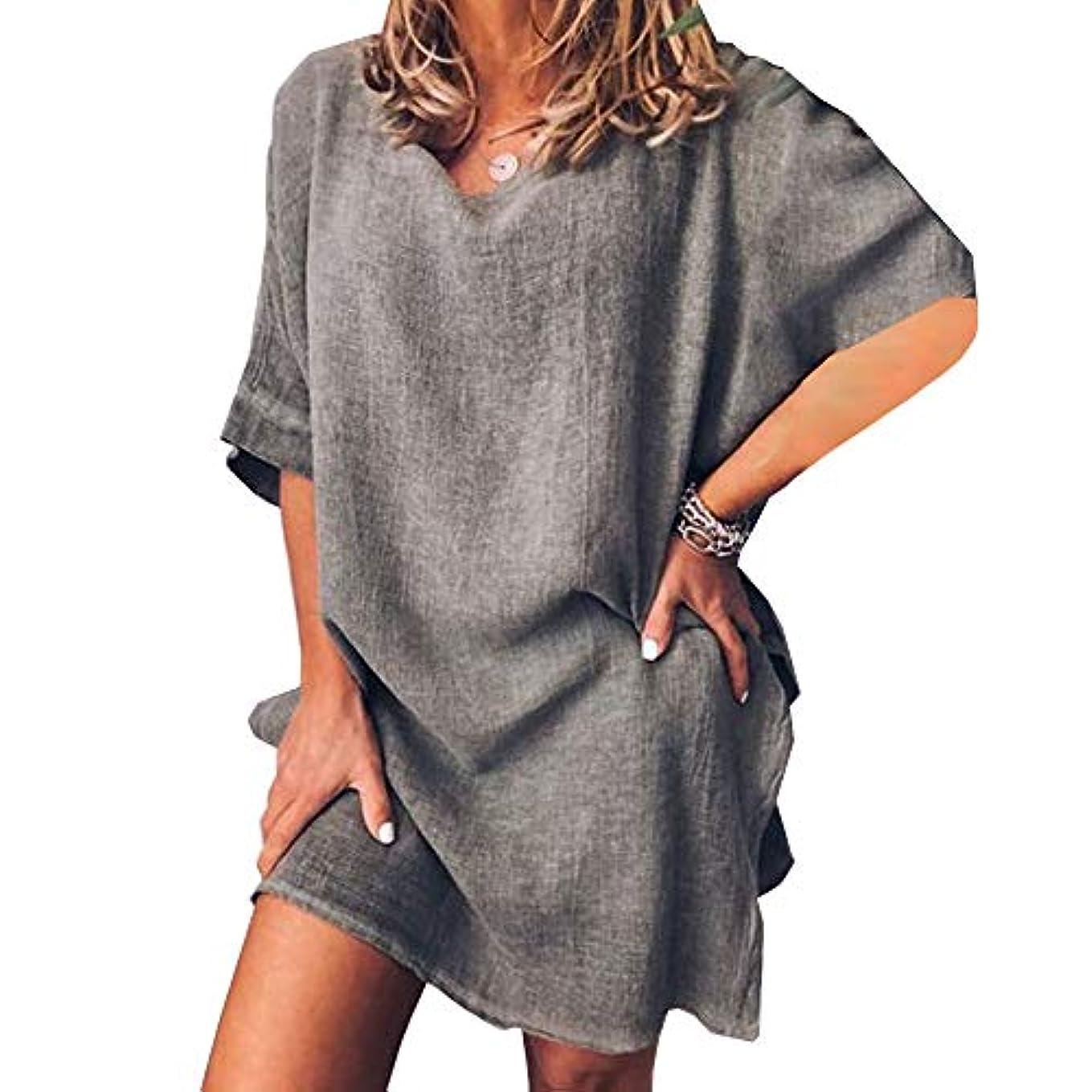 尊敬する切断する病者MIFAN サマードレス、ビーチドレス、ルーズドレス、プラスサイズ、リネンドレス、トップス&ブラウス、女性ドレス、カジュアルドレス