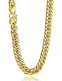 Trendsmax  重量感 メンズ ファッション ネックレス 喜平チェーン クラシック チェーンのみ 316Lステンレス ネックレス カラー:ゴールド 幅:12mm