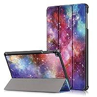 Hansin Samsung Galaxy Tab A 10.1 2019 T510/T515 ケース、超軽量保護シェルスタンドカバー?、銀河