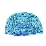 Amazon.co.jpDovewill 子供 女の子 男の子 冬 帽子 暖かい ニット キャップ 4色選べる - 青