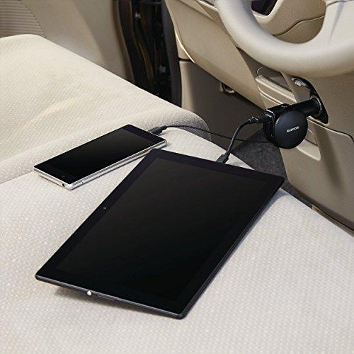 エレコム 車載充電器 シガーチャージャー android対応 マイクロUSB 巻取 90cm USBポート 4.8A ブラック MPA-CCM04BK