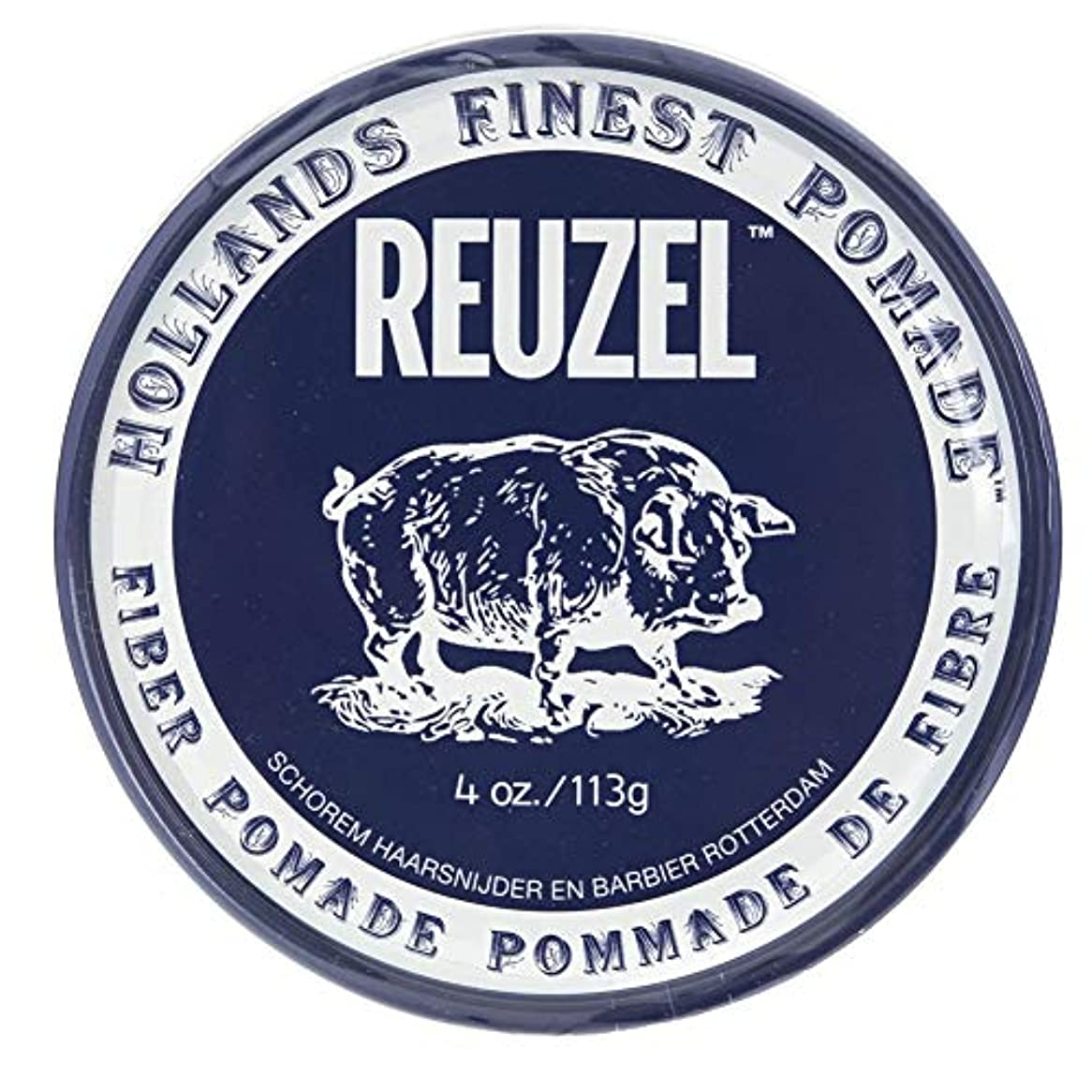 集中狂うスケートルーゾー ネイビー ファイバー ポマード Reuzel Navy Fiber Pomade 113 g [並行輸入品]