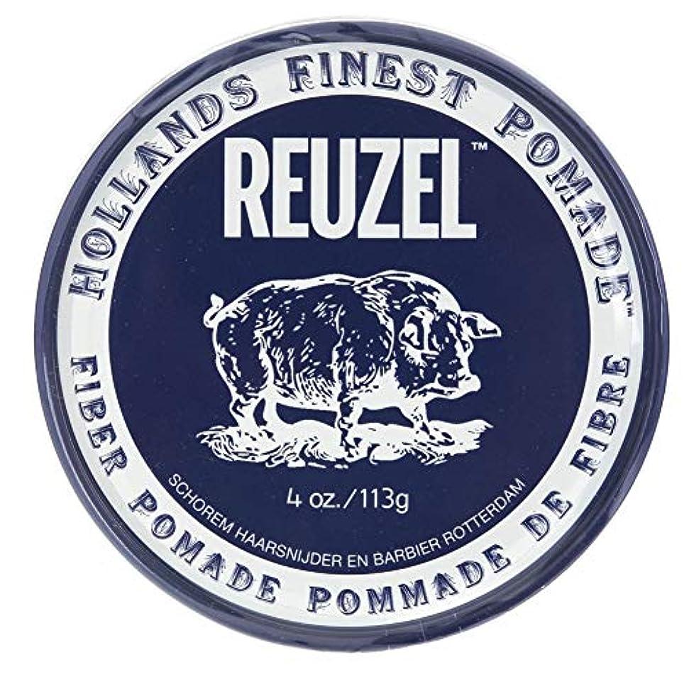 素晴らしさ変換する静かにルーゾー ネイビー ファイバー ポマード Reuzel Navy Fiber Pomade 113 g [並行輸入品]