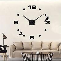 MUHSEIN 手作り DIY 壁掛け 時計 デザイン インテリア クロック ウォールクロック ウォールステッカー 部屋装飾 模様替えに  簡単 おしゃれ! (ブラック)