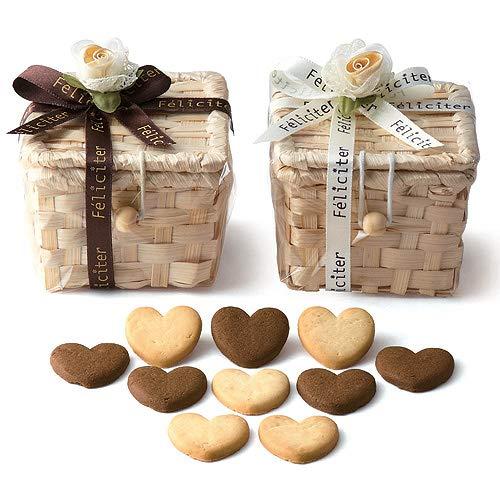 バレンタイン プチギフト お菓子 結婚 退職『フェリシテバスケットクッキー 1個』個包装 大量 業務用 販促(重要:6個以上でご注文下さい)