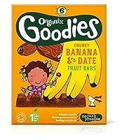 Organix Goodies Banana & Date Chunky Fruit Bars 6x17g (102g) - (102グラム)を6X17G Organixグッズバナナ&日付分厚いフルーツバー (Organix) [並行輸入品]