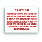 Restoration Decal–Positraction Posi LimitedスリップGM Chevroletマッスルまたはクラシックカー–5x 7