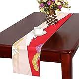LKCDNG テーブルランナー 和風の富士山 クロス 食卓カバー 麻綿製 欧米 おしゃれ 16 Inch X 72 Inch (40cm X 182cm) キッチン ダイニング ホーム デコレーション モダン リビング 洗える