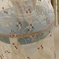 YKFN アメリカン カントリー シンプル ジャカード 高級 リビング 刺繍 ベッドルーム ヨーロッパ カーテン 遮熱 遮音 遮光 おしゃれ フック付き オーダーカーテン