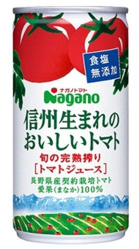 信州生まれのおいしいトマト 食塩無添加 190g ×30缶
