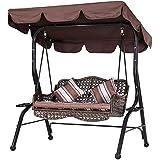 Garden Swing Seat Canopy Swing Seat Cover,164x114x15cm 210D Oxford Sunshade Rocking Waterproof Block Sun Shade Replacement Ha