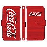 freetel XM 手帳型 ケース [デザイン:D.ビックロゴ(ウッド)/マグネットハンドあり] Coca-Cola コカ・コーラ フリーテル スマホ カバー