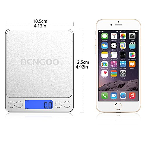 Bengoo はかり 電子秤 デジタルスケール 皿はかり クッキングスケール 精密 計量秤 超小型 キッチン用 0.1gから3000gまで計量可能 風袋機能 オートオフ機能