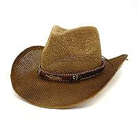MUMUWU メンズ ストローハット 麦わら帽子 わら 紫外線防止 春 夏 携帯便利 快適 キャップ (色 : 4, サイズ : 56-58CM)