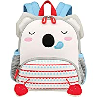 VIDOSCLA Cute Cartoon Preschool Backpack Anti-lost Kindergarten Book Bag for Toddler Girls Boys