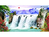 3D壁紙壁画3Dルーム壁紙風景滝の背景壁画写真3D壁画壁紙