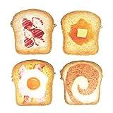 [ Alnair (アルナイル)] まるでパンみたいな ショルダーポーチ バッグ まるでパンみたいなシリーズ まるでパンみたいなポーチ 食パン ポーチ (ベーコンエッグ)
