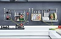 ステンレススチールキッチンラック排水シャーシラックラックボウルストレージ装置ツールホルダーラック実用的シェルフ