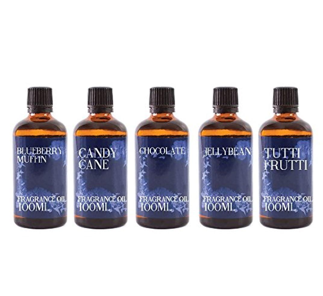 威信シャンパン配管Mystic Moments | Gift Starter Pack of 5 x 100ml Confectionery Fragrant Oil