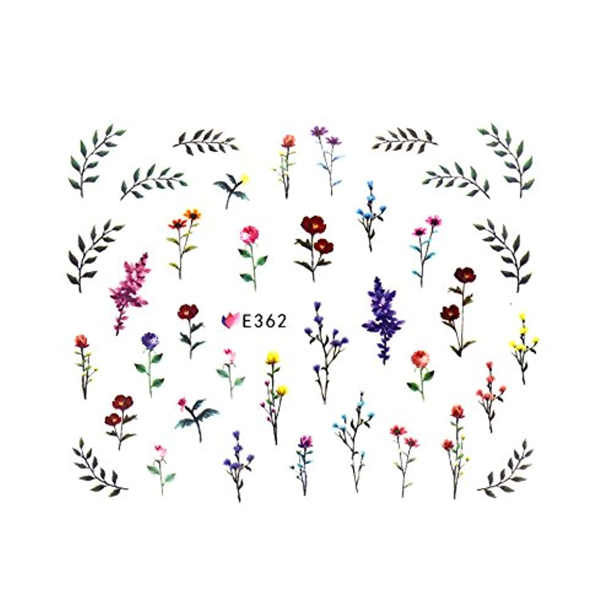 事実上通信網広範囲フラワーガーデンシール 【E362】フラワー ボタニカル ドライフラワー 小花柄