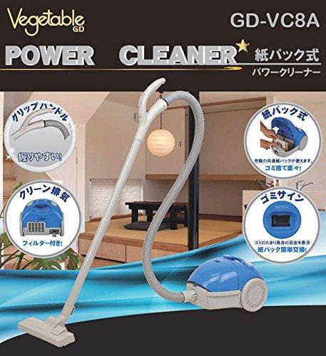 Vegetable 紙パック式 パワークリーナー 掃除機 紙...