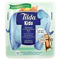 ティルダの子供甘い野菜&全粒米の125グラム (x 6) - Tilda Kids Sweet Vegetables & Wholegrain Rice 125g (Pack of 6) [並行輸入品]