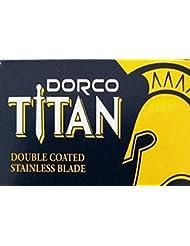 Dorco Titan 両刃替刃 100枚入り(10枚入り10 個セット)【並行輸入品】
