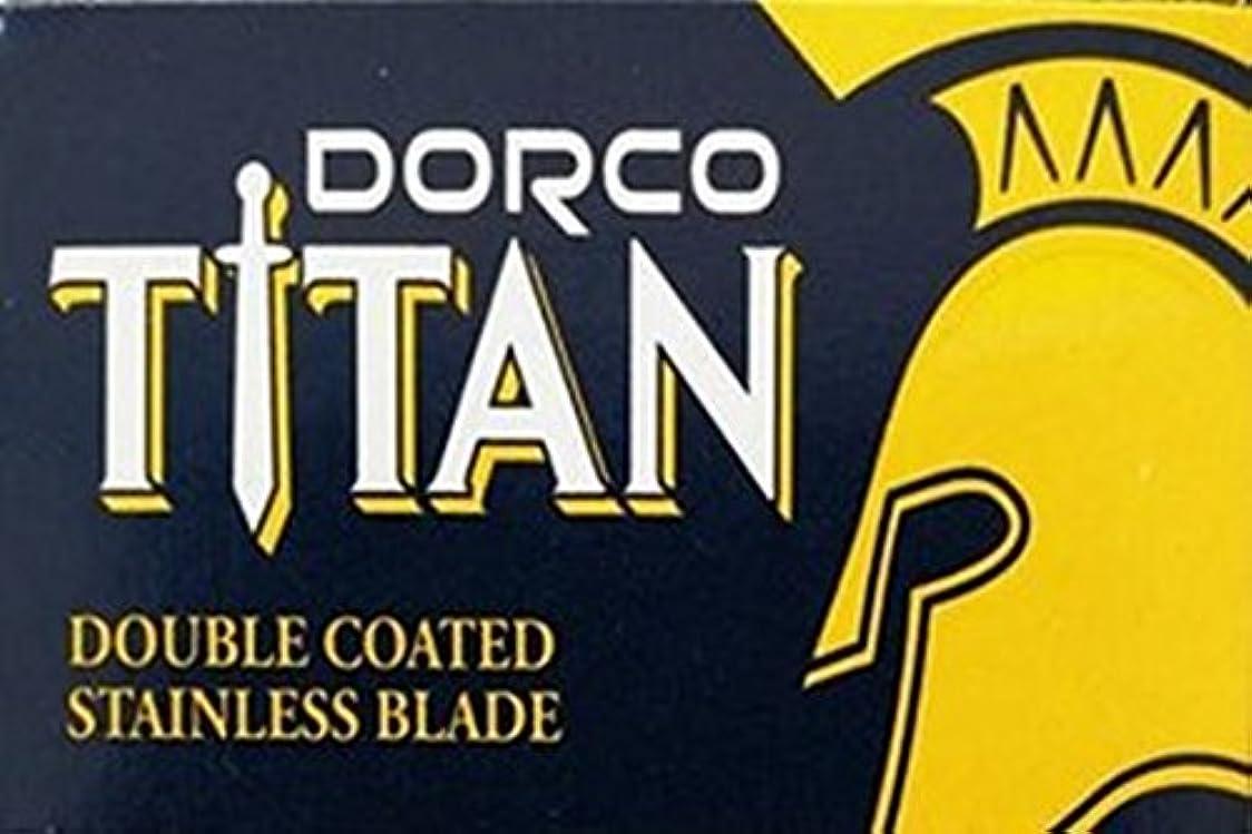 新年ながらぼんやりしたDorco Titan 両刃替刃 100枚入り(10枚入り10 個セット)【並行輸入品】