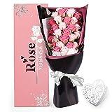 YOBANSA ソープフラワー 枯れない 花 ギフト 花束 ボックス バラ 石鹸 フラワー お祝い 誕生日 記念日 女性 先生の日 バレンタインデー 昇進など プレゼント (ピンクの2色)