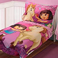 Dora Explorer Toddler Bedding Set Pony Pal Comforter Sheets by Store 51
