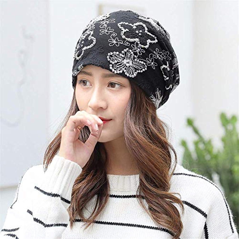 確かに限り特異性34-maizhuoyuanlin 女性のヘッドギアファッションターバン帽子包頭キャップ通気性の薄いセクション月キャップ (Color : G, サイズ : M)
