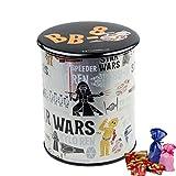 [ラッピング済み] スターウォーズ クランチ チョコレート バッジ缶 STARWARS グッズ バレンタイン ギフト (ブラック)