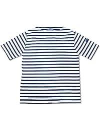 (セントジェームス)SAINT JAMES 半袖Tシャツ ピリアック ボーダー ホワイト/ネイビー 3