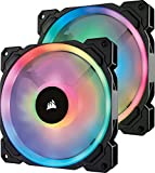 Corsair LL140 RGB 2Fan Pack with Lighting Node PRO PCケースファン [140mm径 RGB搭載] FN1143 CO-9050074-WW