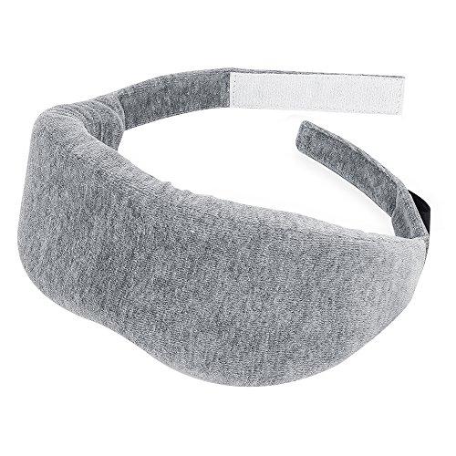 PLEMO 立体型睡眠アイマスク 超ソフト 優れる通気性 フィット感 快眠グッズ 男女兼用 睡眠補助 睡眠 旅行に最適 (浅いグレー) EM-465