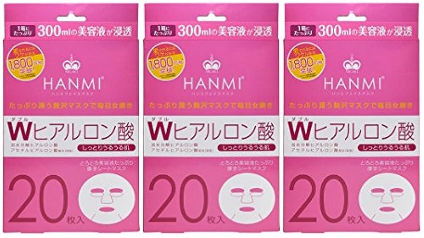 熟読ワットアカデミックMIGAKI ハンミフェイスマスク プラス Wヒアルロン酸 20枚入×3個セット